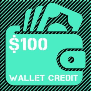 $100 Wallet Credit