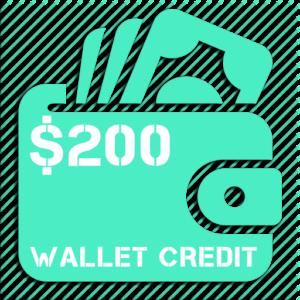 $200 Wallet Credit