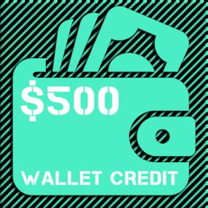 $500 Wallet Credit