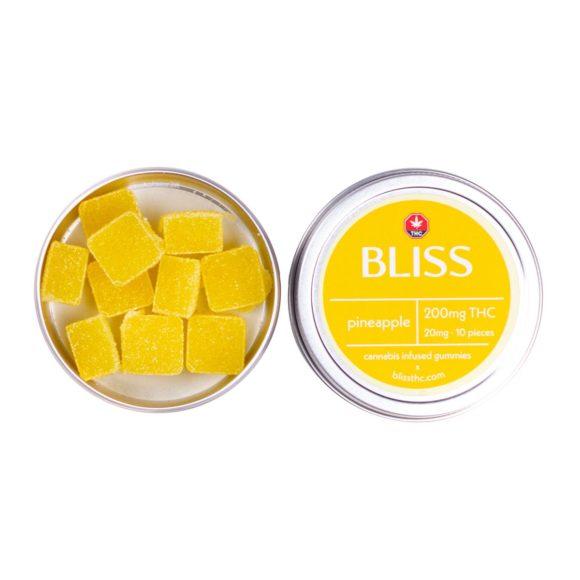 Bliss Pineapple 200mg THC Gummies Edibles Side