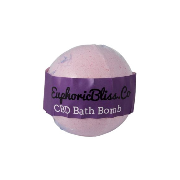 Euphoric Bliss Jasmine CBD Bath Bomb 100mg Front