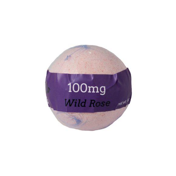 Euphoric Bliss Wild Rose CBD Bath Bomb 100mg Back
