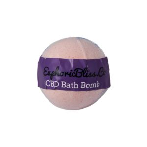 Euphoric Bliss CBD Bath Bomb 100mg Wild Rose