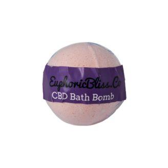 Euphoric Bliss CBD Bath Bomb 100mg Wild Rose