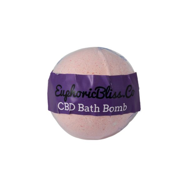 Euphoric Bliss Wild Rose CBD Bath Bomb 100mg Front