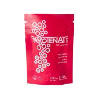 Kootenay Labs THC Sativa Raspberry Gummies 250mg – 5pcs