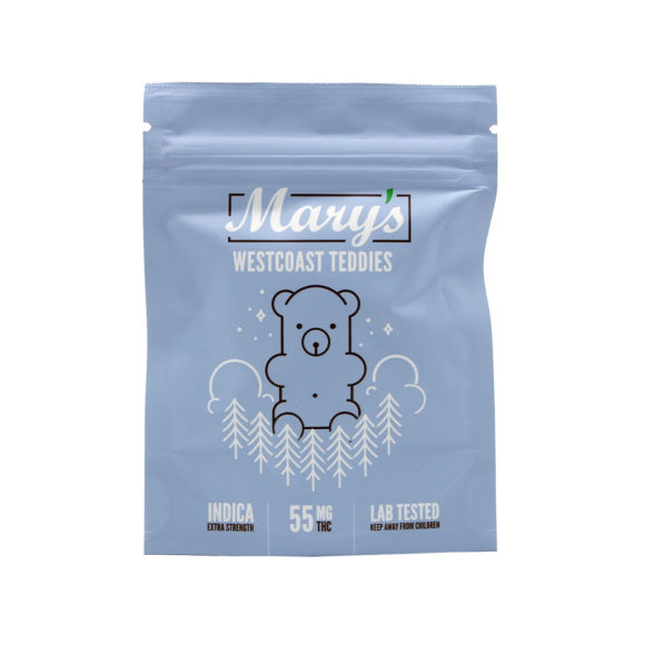 Mary's-Westcoast-Teddies-55mg-Indica-Gummies-Front