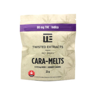 Twisted Extracts THC Indica Cara-Melts – 80mg