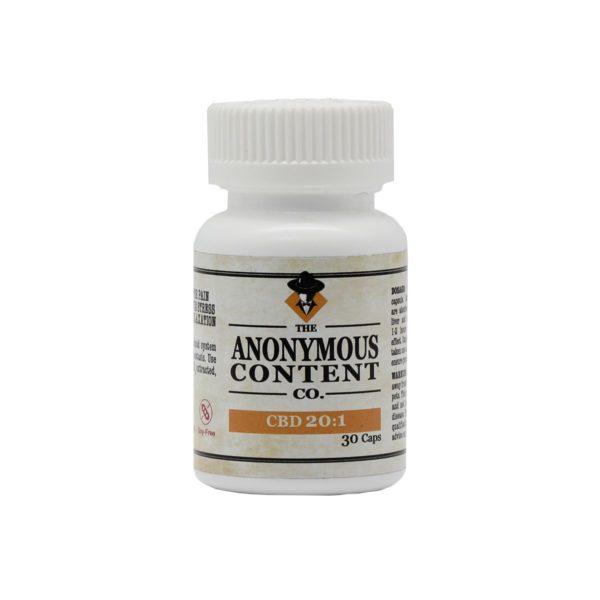 Anonymous Content Co 20:1 CBD Caps 20mg