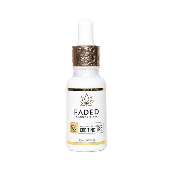 Faded Cannabis Co Full Spectrum CBD Oil 500mg Bottle