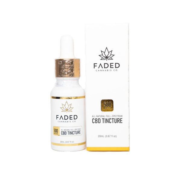 Faded Cannabis Co Full Spectrum CBD Oil 500mg Box