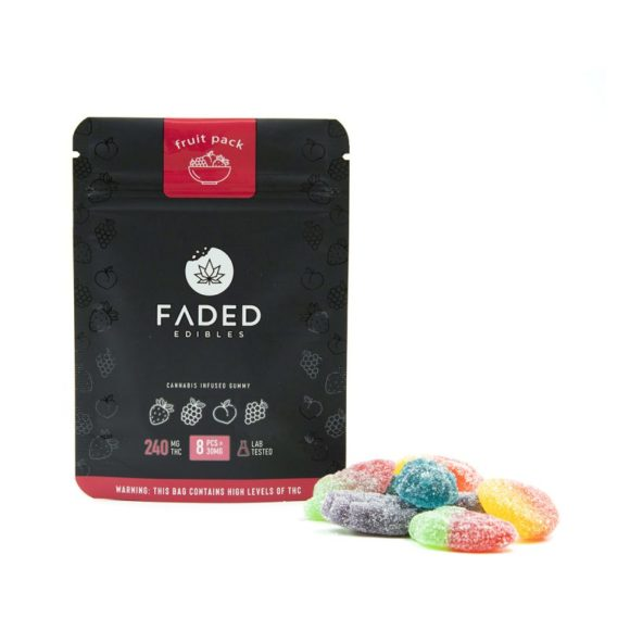 Faded Edibles Fruit Pack Edibles 240mg - Outside Pack