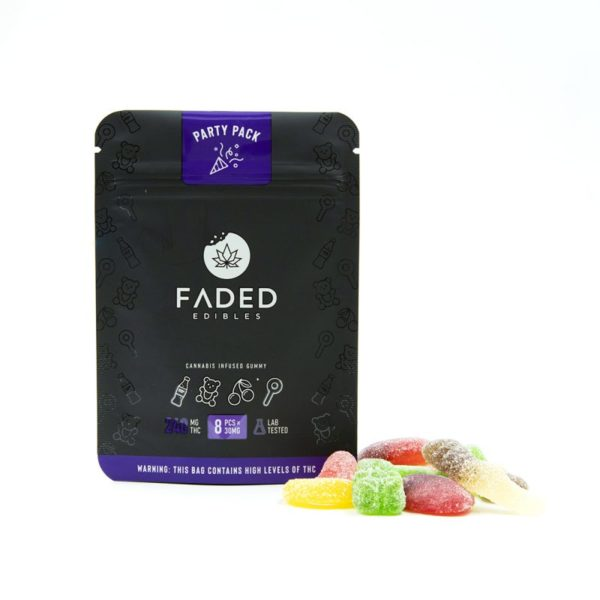 Faded Edibles Party Pack Edibles 240mg - Outside Pack