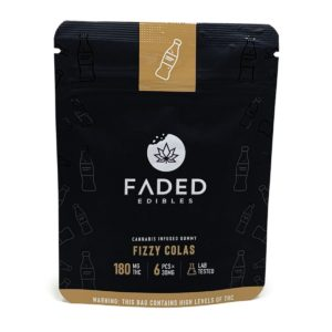 Faded Edibles Fizzy Colas Gummies 180mg – 6pcs