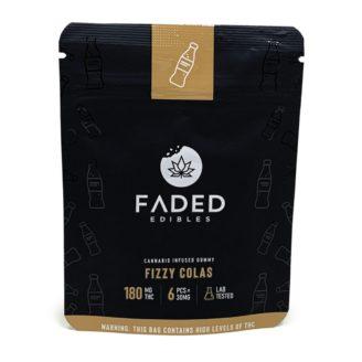 Faded Edibles Fizzy Colas Gummies 180mg – 6pcs