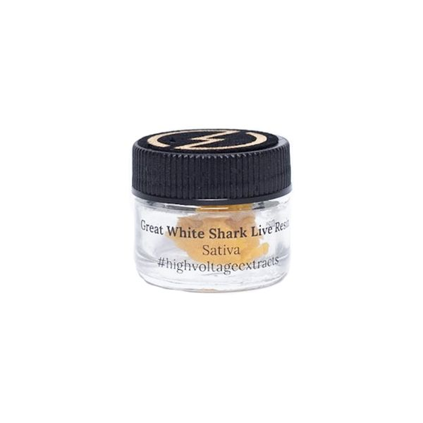 High Voltage Extracts Great White Shark Live Resin Front