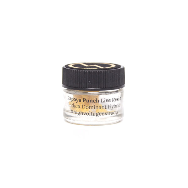 High Voltage Extracts Papaya Punch Live Resin Front