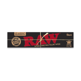 RAW Black Ultra Thin Rolling Papers – King Size Slim