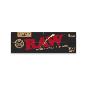 RAW Black Ultra Thin Rolling Papers – 1 1/4 Size