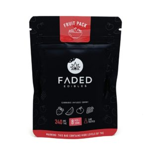 Faded Edibles Fruit Pack Gummies 240mg – 8pcs