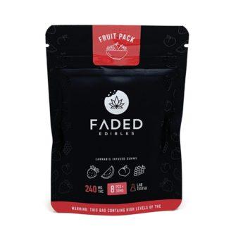 Faded Edibles Fruit Pack Gummies 240mg – 8pcs