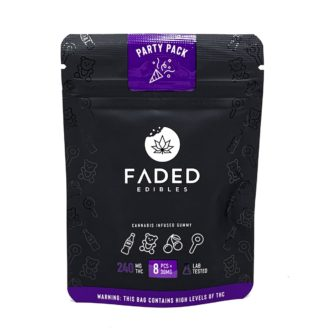 Faded Edibles Party Pack Gummies 240mg – 8pcs