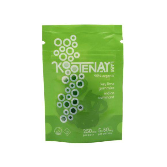 Kootenay Labs THC Indica Key Lime Gummies 50mg Front