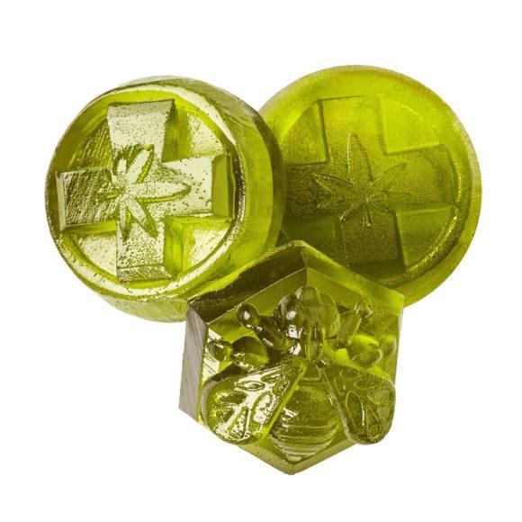Kootenay Labs THC Indica Key Lime Gummies Close Up