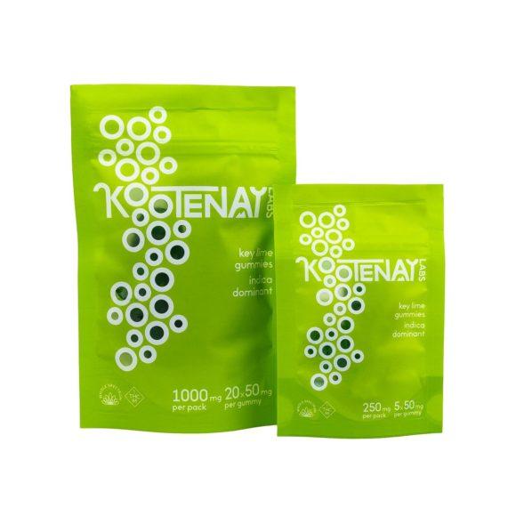 Kootenay Labs THC Indica Key Lime Gummies 50mg