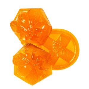 Kootenay Labs Apricot Sativa Gummies 50mg Close Up