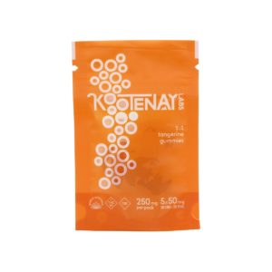 Kootenay Labs Tangerine 50mg THC-CBD 1:1 Gummies – 250mg