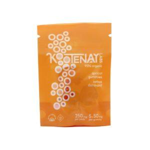 Kootenay Labs Apricot Sativa Gummies 50mg Front