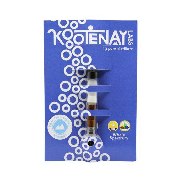 Kootenay-Labs-CBD-Distillate-1g-Vape-Cartridge-Unterped-Front