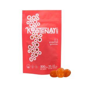 Kootenay Labs Grapefruit 2:1 CBD Gummies – 300mg