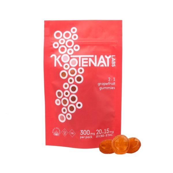 Kootenay-Labs-Grapefruit-2-to-1-CBD-Gummies-300mg