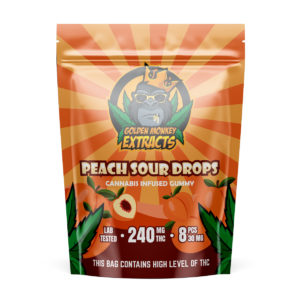 Golden Monkey Extracts – Peach Gummies – 240mg