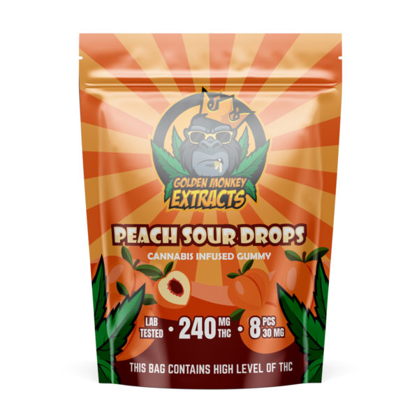 Golden-Monkey-Extracts-Peach-Sour-Gummies-30mgx8