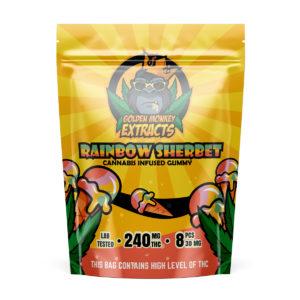 Golden Monkey Extracts – Rainbow Sherbet Gummies – 240mg