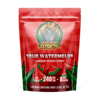 Golden Monkey Extracts – Sour Watermelon Gummies – 240mg